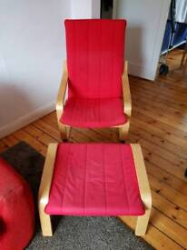 Wooden fabric armchair