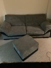 Dfs sofas plus footrest/ storage unit