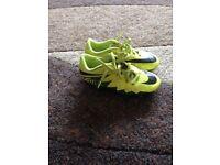 Kids Nike hypervenom football boots size 13