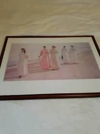 Framed print ladies on the beach