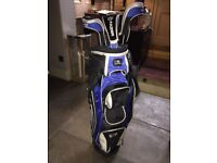 Fazer Golf Bag (Blue) and 3 Metal Woods. Hardly Used