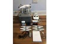 DJI Phantom 4 Drone - - Perfect Condition - 16GB card - extra set of propellers - carry case