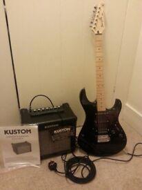 Yamaha Pacifica Electric Guitar + Amp