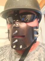 One of a kind leather riding masks from Sanctuary Masks.