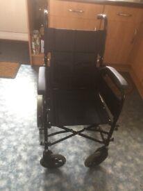 Wheelchair no foot rest also have 4 wheeler and 3 wheeler walking frame