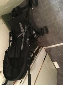 Red kite buggy and baby crib and accessories