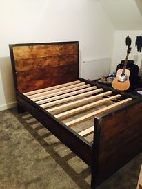 Bespoke industrial style double bed