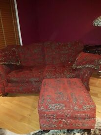 2/3 seater couch plus footstool very good condition hardly used