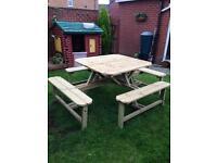 Garden furniture 8 seat beer / pub table