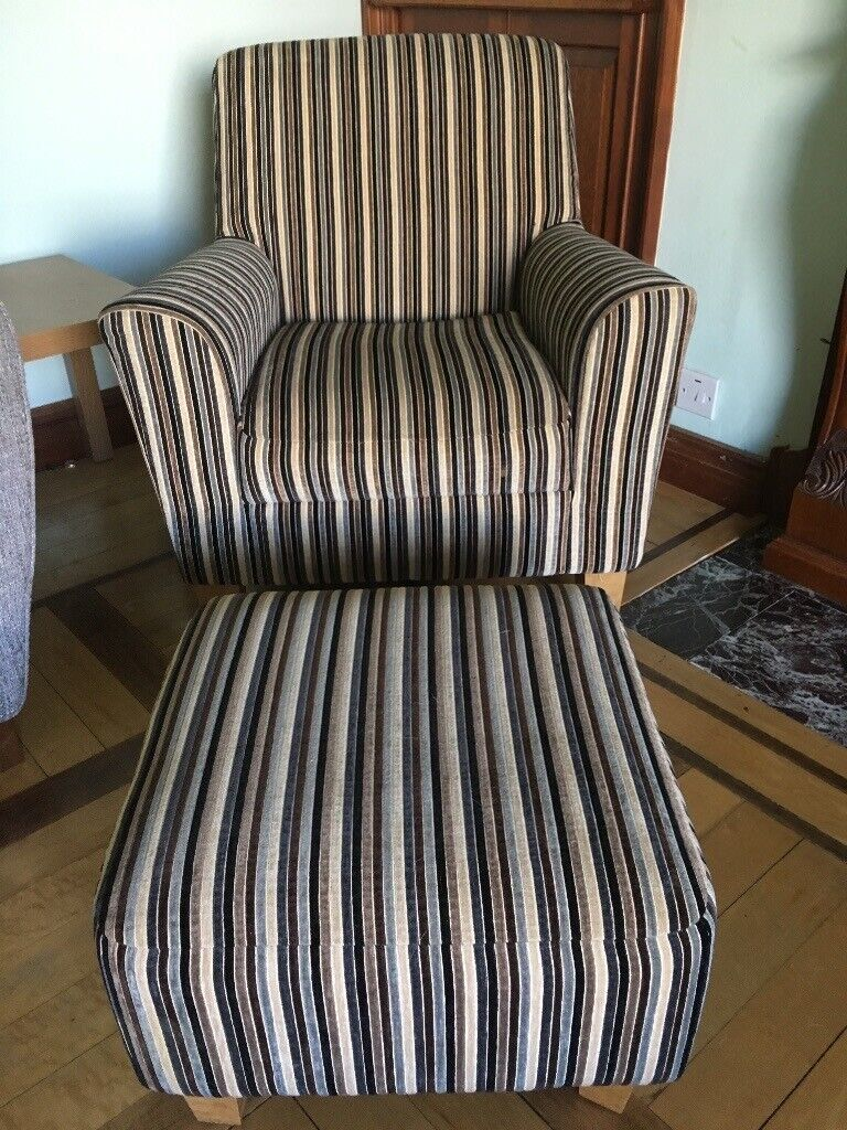 Next Armchair and Footstool | in Bearsden, Glasgow | Gumtree