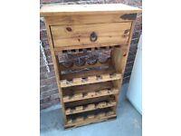 Wine rack antique pine