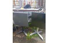 Tables x 3 tables 2 gray 1 black A commercial grade, industrial style,