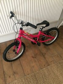 Girls Ridgeback Melody Bike in Hot Pink, 16inch wheels. Collection only.