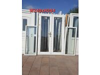 Upvc French doors with 2x side lights W240xH204