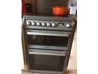 Hotpoint double oven and ceramic hob 60cm