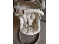 Star lite mamas & papas baby swing with adjustable canopy