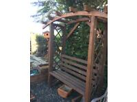 Wooden arch bench seat