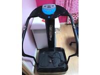 Vibration oscillating plate exercise machine