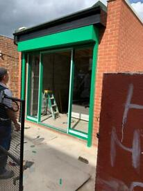 Quality Roller shutters and glass shopfront