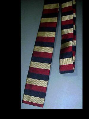 1960s – 70s Men's Ties | Skinny Ties, Slim Ties Vintage Early 1960's MENS Silk Flat NECK TIE Rayon Acetate MADE IN CALIFORNIA  $33.75 AT vintagedancer.com