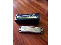Lee Oskar Harmonica key of A as brand new in case unused