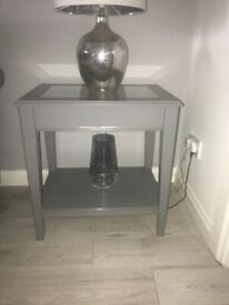 Grey IKEA side tables x2