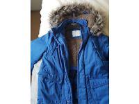 Boys Blue Nutmeg Winter Jacket Age 8-9