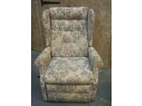 flowery patterned recliner chair - working reclining mechanism.
