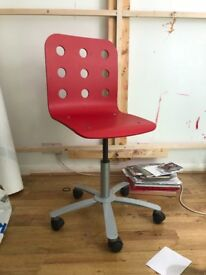 Ikea Red Wooden Desk Chair