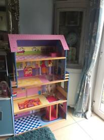 Huge wooden toy doll house suits barbies and larger dolls! Toys and games