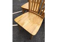 Six solid chairs £120
