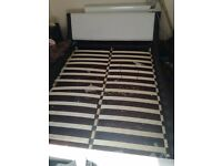 Used Enzo Italian king size bed frame