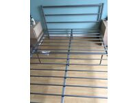 Nearly new metal double bedframe with instructions