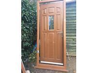 Heritage oak UPVC front door - only 2 years old!