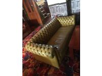 Pair Chesterfield sofas