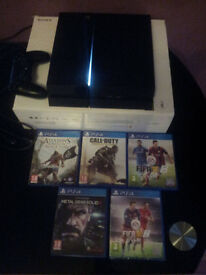 Playstation 4 500GB with 5 games mint condition
