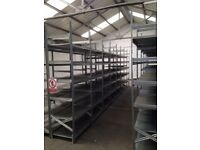 15 bays Galvenised SUPERSHELF industrial shelving 2.m high ( pallet racking /storage)
