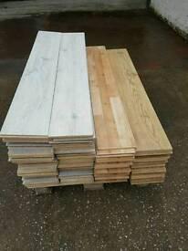 Laminate flooring square edges