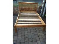 Julian Bowen solid pine king size bed frame in very good condition
