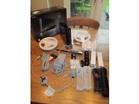 Nintendo Wii bundle - 6 games, 3 remotes and more