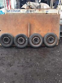 Full set Peugeot 206 wheels with 175/65/14 tyres