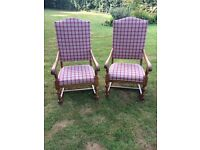 Carver Chairs - Oak - Pair