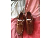 Asos Men's tan leather boat shoes uk 9 brand new