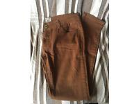 Parisian Tan Super Skinny Jeans UK14/EU42