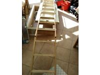 Very strong and sturdy retractable wooden loft ladder and hatch