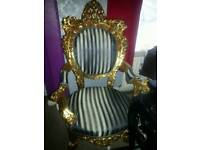 Armchair chair throne rococo baroque antique french