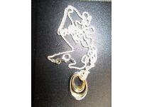 Scarlet Necklace & Bracelet (Brand new) silver and gold