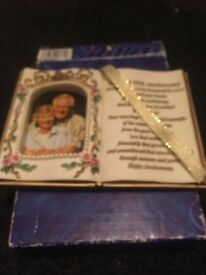 Golden wedding photo frame