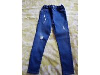 RIVER ISLAND GIRLS JEANS SIZE 7 YEARS