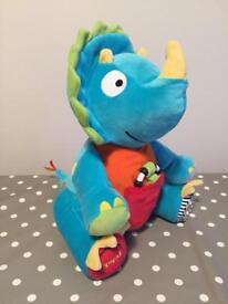 Sensory baby soft dinosaur toy